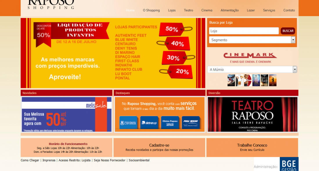 Raposo Shopping – Site